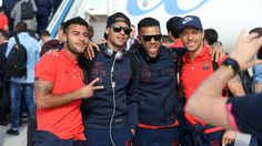 The trip to Seville | FC Barcelona. All them Brazilians! Come on Alves!..