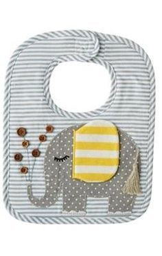 Shop our selection of adorable baby bibs, monogrammed bibs, holiday bibs and more. If you're looking for a bib for baby, check out Mud Pie! Baby Sewing Projects, Sewing For Kids, Sewing Crafts, Quilt Baby, Baby Bibs Patterns, Sewing Patterns, Elephant Applique, Bib Pattern, Baby Kind