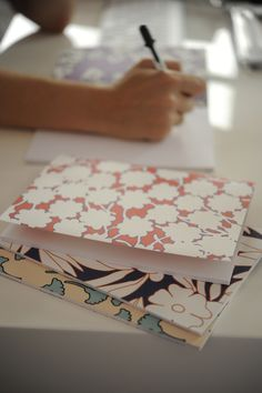 {Notebooks made from vintage Diane von Furstenberg patterns}