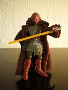 Cilghal custom figure made by malletslam on figurerealms she was one of lukes first students on praxeum 4 jedi master and member of the jedi council made by stass allie body and mon calamari warrior head hands and feet