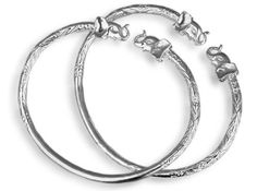 Elephant Sterling Silver West Indian Bangles by betterjewelry, $110.00 (pair)