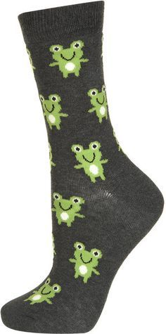 Topshop Cute Frog Ankle Socks