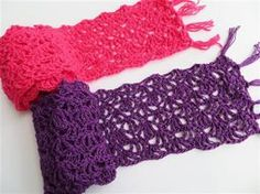 This free crochet scarf pattern would be perfect for  spring. Alana Lacy Scarf…