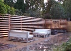 mid century modern landscape -Fence