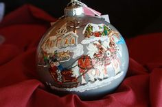 HAND PAINTED ORNAMENT - Horses, Sleigh - Item 183 - lots of styles; various prices