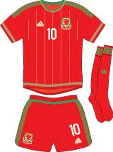 Wales   home jersey   2015-16