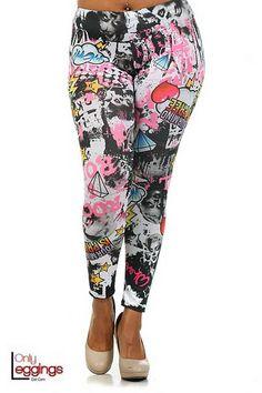 Hollywood Marilyn Plus Size Leggings Curvy Fashion, Latest Fashion, Womens Fashion, Fashion Trends, Sexy Outfits, Cute Outfits, Fashion Outfits, Harem Pants, Pajama Pants