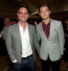"'The Flash,' 'Arrow' Producer Greg Berlanti: ""I Still Fight About Everything"" - Hollywood Reporter Berlanti (left) with boyfriend Robbie Rogers, who plays for the L.A. Galaxy.'"