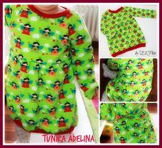 Tunika Adelina 62-86, auch als Puppenversion erhältlich