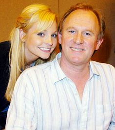 Peter Davison & daughter Georgia.  Georgia is married to David Tennant the 10th doctor.