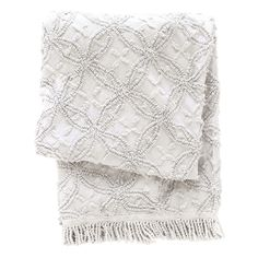 PCH Candlewick Dove Gray Throw