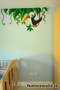 Too cartoony, but good for opposite wall? Jungle Theme Nursery, Nursery Themes, Nursery Ideas, Room Ideas, Decor Ideas, Sunday School, Murals, Baby Room, School Ideas