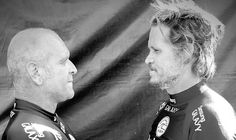 Brad Gerlach and Martin Potter: fists were purposely hidden | Photo: ASP