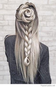 Amazing grey braids