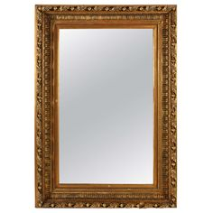 Large Giltwood Mirror | See more antique and modern Wall Mirrors at http://www.1stdibs.com/furniture/mirrors/wall-mirrors