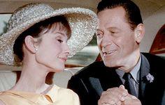William Holden and Audrey Hepburn in film clip