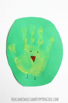 Chick handprint Art for kids on FSPDT