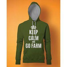 Stampa Felpa Uomo #chesterton #frassati #distributismo # KEEP CALM AND GO FARM