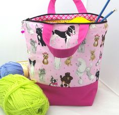 Knitting Project Bag Free Gift Project Tote by AprilNineDesigns