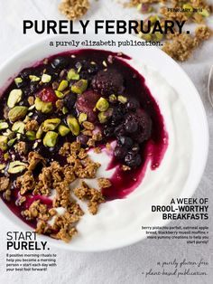 Purely February Magazine | purely elizabeth  A week of drool-worthy breakfast recipes -- gluten-free, nutrient-rich + delicious.