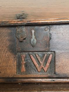 A Century Carved Oak Bible Box. The front carved with a Celtic design that is a typical Welsh. high to back. Welsh Country, Country Style, Antique Wooden Boxes, Coffer, Celtic Designs, 17th Century, Worship, Folk Art, Prayer