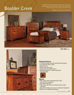 2017 J R Woodworking Catalog Bedrooms E G Amish Furniture