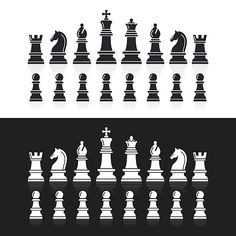 Drawing Rocks, Free Vector Art, Chess, Icon Design, Board Games, Abstract, Drawings, Illustration, Prints
