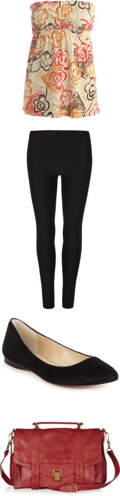 """Legging Look #83"" by sarratori ❤ liked on Polyvore"