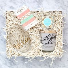 Make it a very special birthday for someone you love! With our perfect mixture of birthday goodies, this gift box is sure to make their day! Comes wrapped in our signature gold foil stamped gift box w