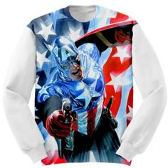 Captain America art Custom Clothing
