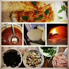Dopo aver messo a punto le cose indispensabili per la riuscita di una buona pizza mi sono avventurato nella preparazione di una cena a base di pizza al for