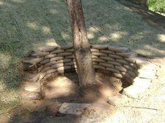 Concrete Sack Retaining Wall   Drain Improvements