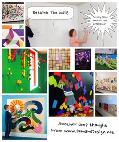 Rethink you walls- sensory design anywhere on any budget from #DIY to interactive experience design.