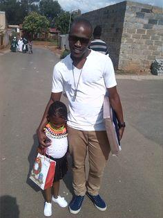 Me and Mbumbu after her graduations! Proud DAD!