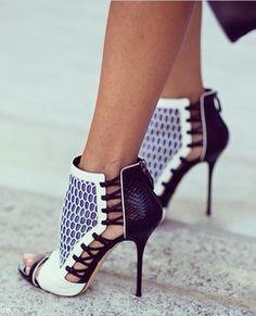 Xpress pink houndstooth platform stiletto heels
