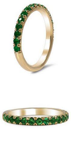 http://rubies.work/0703-multi-gemstone-ring/ Emerald Wedding Band                                                                                                                                                     More