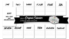 "Original Calendar 2017 This file includes 13 files (12 months of the year and a cover) ready to be printed. All files are in jpeg format at 300 dpi for excellent print resolution. Why ""original""? Because instead of being written to the classics of the year there are numbers:) January = One, February = Two etc. In short, an original calendar, detail and minimalist. The press really makes much if made out of smooth sheets (or rough) from 220 grams. I wish you a Merry 2017"