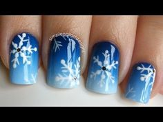 Pinned by www.SimpleNailArtTips.com CHRISTMAS NAIL ART DESIGN IDEAS -  Snowflake Nail Art Tutorial Video
