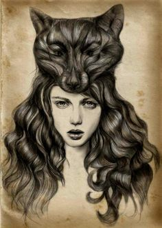 Most popular tags for this image include: wolf, art, hair, illustration and drawing She Wolf, Wolf Girl, Cool Pictures To Draw, Line Art, Facial Images, Street Photography, Art Photography, Theme Tattoo, Spirit Animal