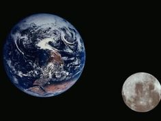 Earth and the Moon Seen from Space Photographic Print by Arnie Rosner at Art.com