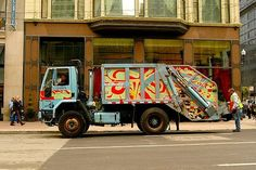 Decorated Garbage Truck