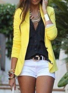 Blouse: jacket yellow blazer beautiful womans blazer