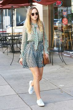 Suki Waterhouse does a girly spin on sneakers with her Superga XO Jennifer Meyers.