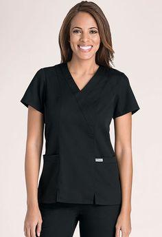 Popular Grey's Anatomy Scrub Top! Grey's Anatomy Scrubs #41101 Mock Wrap. NationalScrubs.com