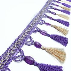 Items similar to Purple Acrylic Beaded Fringes Soft Furnishings Trim Upholstery Indian Ribbon Craft Wide Tassel Curtain Home Decor Lace By 1 Yard on Etsy Colorful Playroom, Playroom Colors, Tassel Curtains, Craft Accessories, Ribbon Crafts, Acrylic Beads, Beige Color, Fringes, Soft Furnishings