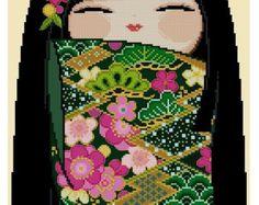 Festival Beauty  Asian Design Cross Stitch Pdf by CrossStitchRinna
