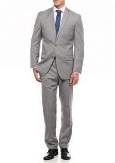 MICHAEL Michael Kors Grey Slim Fit Solid 2-Piece Suit