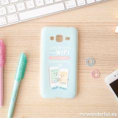 Carcasa para Samsung J3 – Los besos y la wifi son para compartir #phone #case #mrwonderfulshop #design #samsung