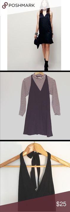 NWT. Zara Black Tied Halter Slip Dress Zara Black Tied Halter Slip Dress. NWT. Perfect transitional piece. A capsule wardrobe special occasion must. Zara Dresses