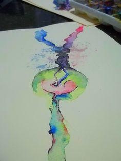 relato do quão individual podemos ser , sendo apenas reflexo do que já eram antes de nós #watercolor